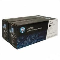 Cartus toner Q2612AD (12A) negru pachet dublu HP 4000 pagini