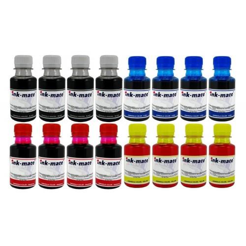 Pachet Flacon cerneala Ink-Mate Compatibil Brother 4x LC529XLBK Negru 4x LC529XLC Cyan 4x LC529XLM Magenta 4x LC529XLY Galben 1600 ml
