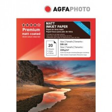 Hartie AGFA A4 Matte DOUBLE side 220g/mp pachet 20 coli