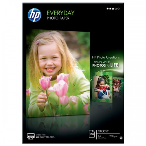 HP Everyday Glossy Photo Paper 200g/m² - A4/100 sheets