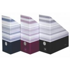 Suport document vertical HERLITZ MONTANA, 11cm, carton albastru, 10085074