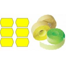 Etichete rola 26x12mm, 1500/rola, galben