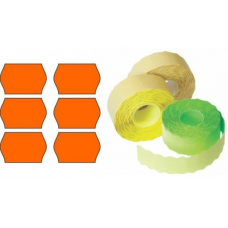 Etichete rola 26x16mm, 1000/rola, portocaliu