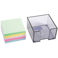 Cub hartie CNX, TH09, 8.5x8.5cm, color, 500coli, cu suport plastic
