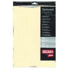 Hartie A4 texturata DECAdry Champag SCL2058D 95g/mp pretaiata,set de 10