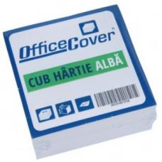 Cub hartie OFFICE COVER, 8.5x8.5cm, Alb, 500 coli
