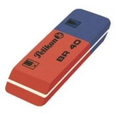 Radiera PELIKAN BR80, cauciuc rosu/albastru