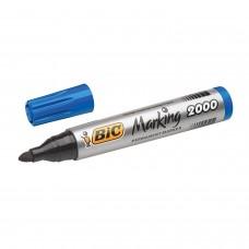 Marker permanent BIC 2000 Marking, varf rotund,corp gros,albastru