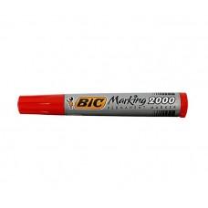 Marker permanent BIC 2000 Marking, varf rotund,corp gros,rosu