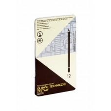 Creioane grafit diverse tarii: B-6B&HB-6H,Grand 160-1619, set de 12 buc