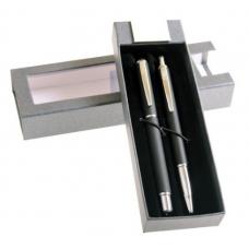 Set stilou+pix CRESCO WINNER, metalic 880014, model W-04 argintiu, cutie cadou