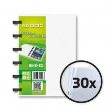 Dosar de prezentare A6, cu 30 folii, AURORA Adoc - coperta transparenta