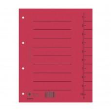 Separatoare carton manila 250g/mp, 300 x 240mm, 100/set, DONAU - rosu