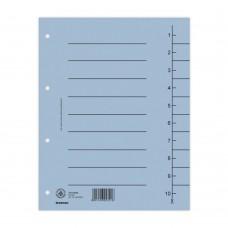 Separatoare carton manila 250g/mp, 300 x 240mm, 100/set, DONAU - albastru