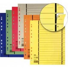Separatoare carton manila 250g/mp, 300 x 240mm, 100/set, ELBA - galben
