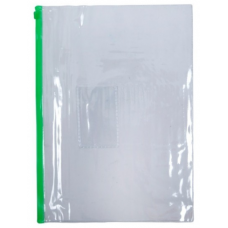 Mapa A4 CNX 756, plastic, 12 microni, transparenta, fermoar