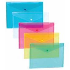 Mapa A4 NOKI, plastic, cu buton, transparenta, 3101